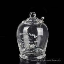 Lidded Glass Olive Oil Jar Sugar Jar