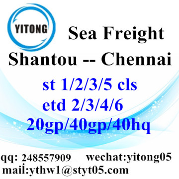 Services de logistique internationale de Shantou à Chennai