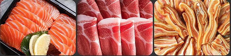 fresh meat cutting machine
