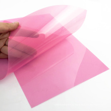 Factory Direct Sell A4 Size Rigid Pink PP Plastic Binding Cover Sheet