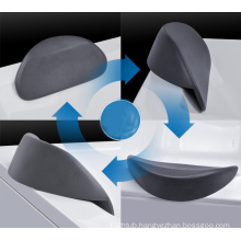 Top Sanitary Ware Bathtub pillow PU Material Pillow Back Suction Bath Pillow