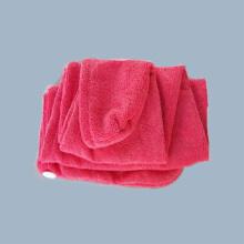 Toalha de cabelo de microfibra com etiqueta privada