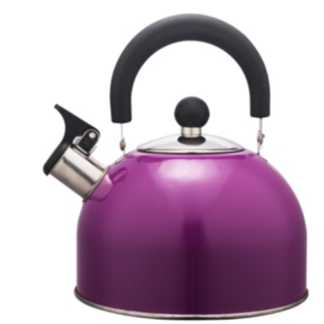 Lukisan warna 1.5L Stainless Steel Teakettle warna ungu