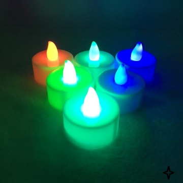 A UAS Led Tealight Candle luz amarilla parpadeo