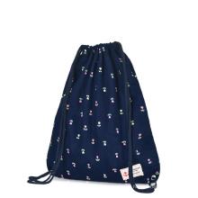 Sac à dos en toile imprimée avec cordon de serrage et sac de sport