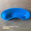 Bandeja de plástico con forma de riñón de un solo uso