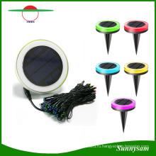 Пульт дистанционного управления Цвет изменение Солнечной декоративные светодиодные строки свет 10 м