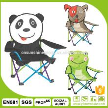 Animales de dibujos animados los niños silla plegable 210 d llevar bolso para acampar