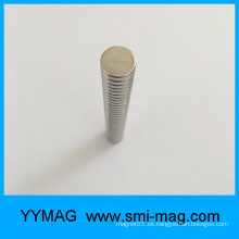 Imán redondo del neodimio de la magnetización axial D12x3m