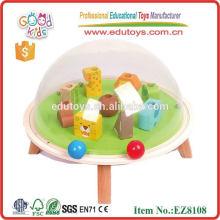 OEM Preschool animal pitching handmade wooden toy cheap kids toy