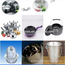 Cercle en aluminium laminé à chaud pour l'industrie de la cuisine
