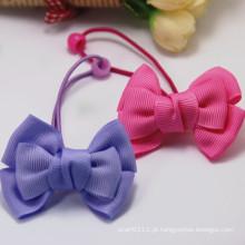 Miúdos bonitos artesanal fita bowknot elástico de borracha hairbands (je1561)