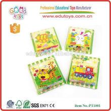 Newest 2015 Children 9pcs 3d cube block wooden puzzle
