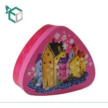 Мода высокое качество круглый угол логотип треугольной печати пустая коробка подарка шоколада конфеты