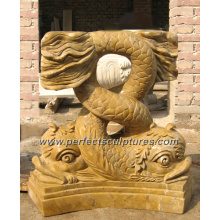 Base de mármol de piedra Pedestal para la base de pedestal de piedra de mármol (BA032)