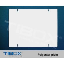 Plaque de montage en polyester pour boîtiers en polyester