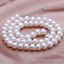 Gets.com 2015 мода пресноводные реального барокко жемчужное ожерелье конструкций