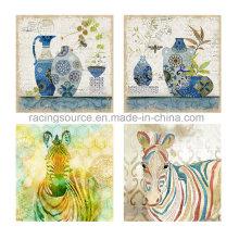 Tier gestreift handgemalte Öl Leinwand Malerei für Wohnkultur
