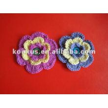 Новый дизайн вязания крючком шерстяной цветок
