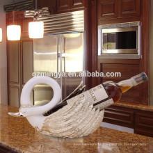Design home decor living room decorative sculpture red wine rack resin wine bottle bracket