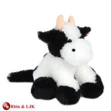 Alta calidad personalizado relleno vaca negro de juguete