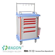 ABS Plastic Hospital Crash Cart Contents CE Approved Medical Hospital Cart