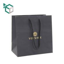 Высокий конец шелковое многослойное ЛПС сертифицированы черный напечатанная бумага искусства хозяйственная сумка с веревкой ручки