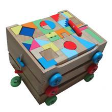 Blöcke in 3 in 1 Wooden Cart Building Spielzeug