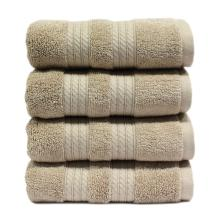 Luxury Gift Bath Towel Set with Paper band Dobby Solid Color