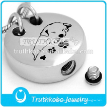 Fashion Urn Jewelry with Lovely Pets Dog Ashes In My Heart Stainless Steel Pet Urn Cremation Pendant