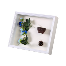 Custom 8*10 Fresh flowers Plant specimen Wedding bouquet memorial shadow box frame for decoration
