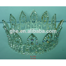 fashion bridal tiara gold crown santa clause tiara wholesale cheap mini tiara