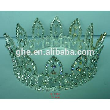 fashion bridal tiara gold crown santa clause tiara wholesale cheap mini tiara