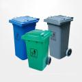 Cubo de basura plástica al aire libre de alta calidad con ruedas (YW0010)