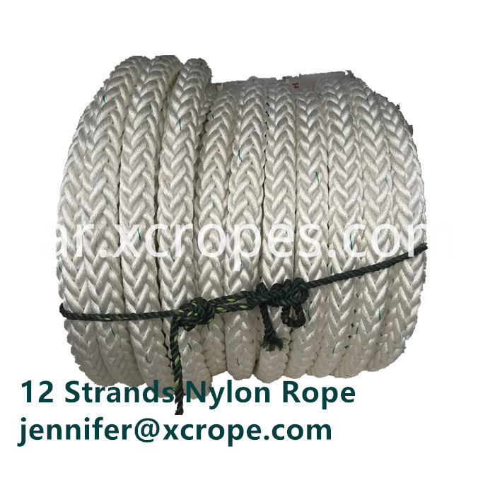 12 Strands Nylon Rope With Green Track Line