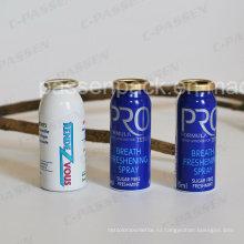 Небольшой алюминиевый баллон с аэрозолем для освежения дыхания спрея (PPC-AAC-036)
