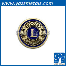 customized high quality Lion Club International badges/lapel pin/tags