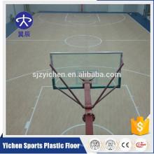 Plancher sportif de plancher de basket-ball d'intérieur de conception d'érable / tapis de sol sportif de PVC