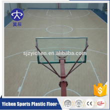 Maple design indoor basketball court sport flooring/pvc sports flooring mat