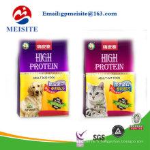 Nouveau produit Custom Pattern Printed Plastic Ziplock Flat Bottom Pet Food Bag