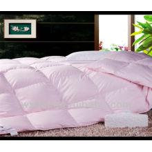 édredon de couleur unie en coton rose
