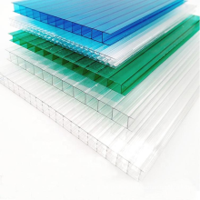 China factory twin wall plastic clear 8mm heat preservation polycarbonate sheet used sunroom panels for walls translucent