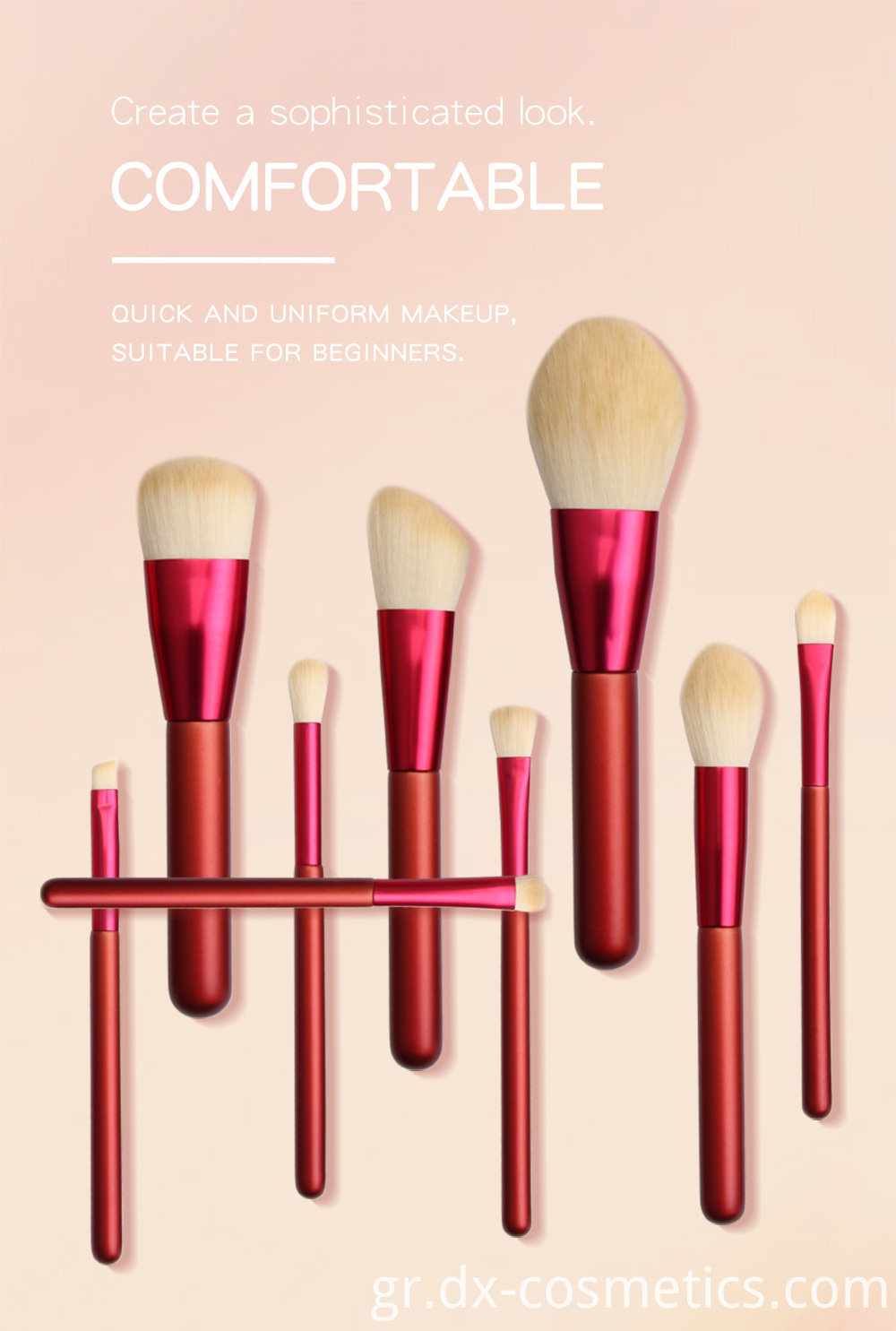 12 PCS Red Handle Makeup Brushes Set 2