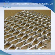 Tissu en alliage en chaîne en aluminium décoratif