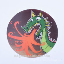 2016 ímãs populares do refrigerador do papel da forma redonda do design do dinossauro para presentes