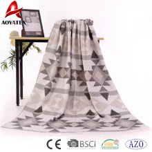 Factory price 100% acrylic woven jaquard blanket