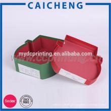 Dekorativer Papiergeschenkkasten Weihnachten Chrismas rote unregelmäßige Form mit Deckeln
