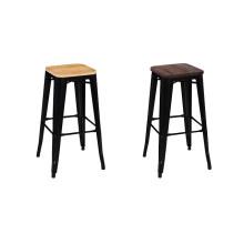 Diseño clásico silla fabricante proveedor al por mayor mejor precio taburete de bar de metal