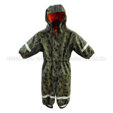 PU Hooded Reflective Siamese Clothing for Baby/Children