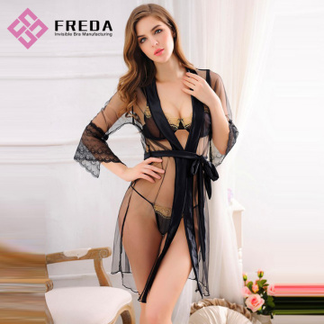 Mooie Dames Lingerie Nachtkleding Sets Long Robes